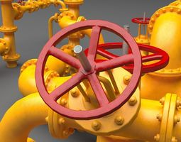 PBR Industrial Pipes 3D asset