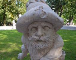 Mirabell Palace Salzburg - Dwarf with 3D print model 1