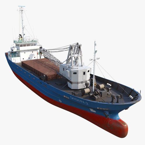 cargo vessel sinekura-2 3d model max obj mtl fbx 1