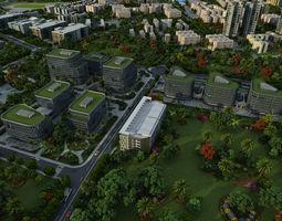 Modern City Animated 061 3D model