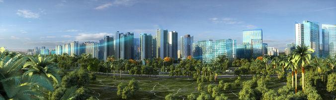 modern city animated 063 3d model max 1