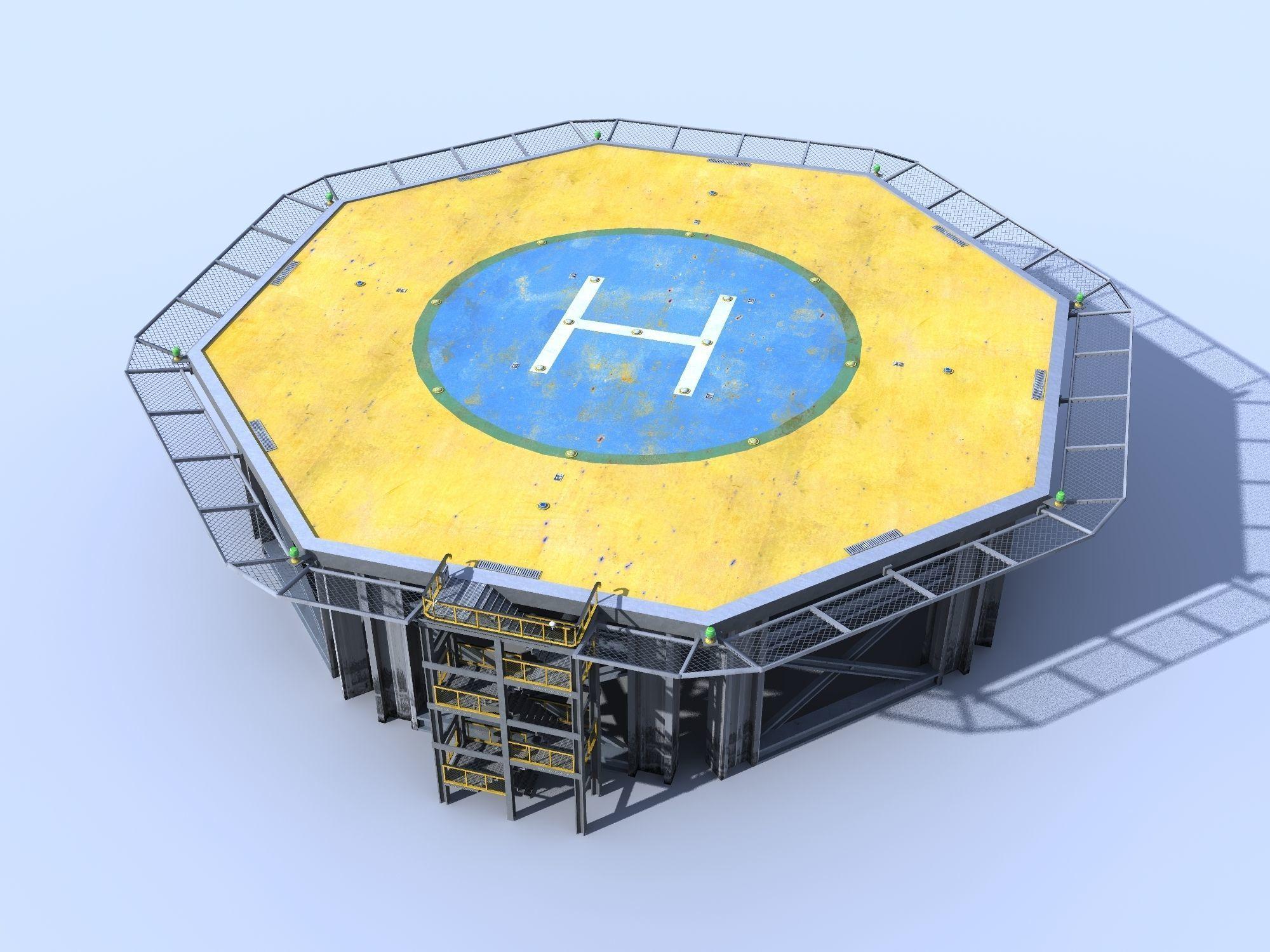 Helicopter industrial landing pad Orange - helipad - airfield