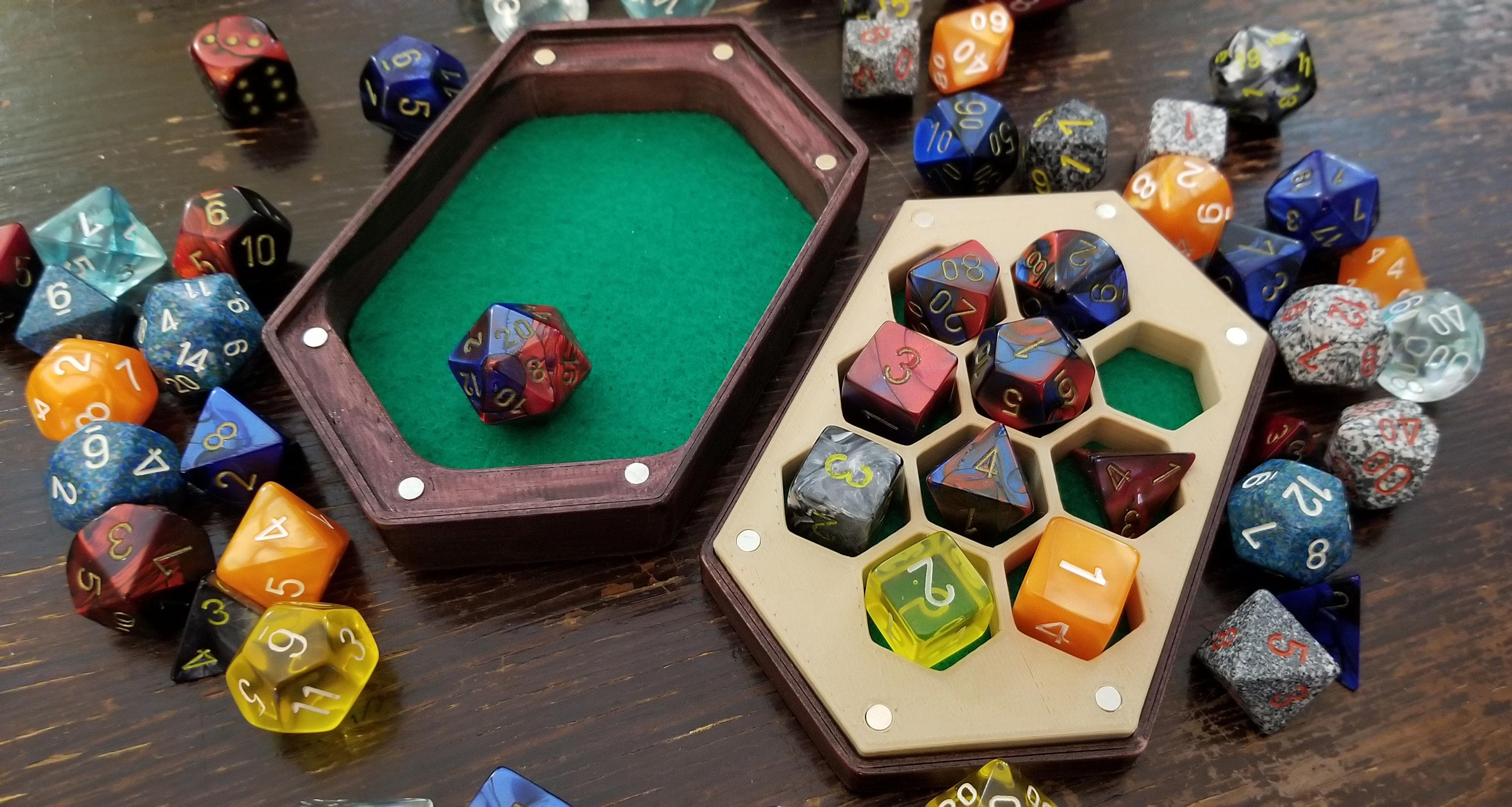 Dice Box and Tray with Swappable Inserts
