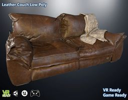 3D asset Leather Couch