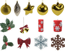 3D model Christmas decorations