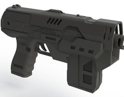 3D printable model weapon Lawgiver 2012