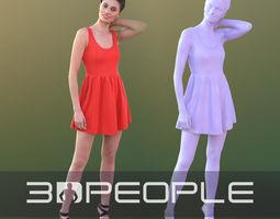 Myriam 10268 - Posing Party Girl 3D model