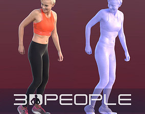Ina 10281 - Running Athletic Woman 3D asset
