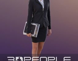 Ina 10286 - Walking Business Woman 3D game-ready