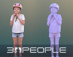 Lilly 10288 - Cyclist Girl 3D asset