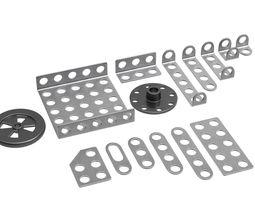 3D asset Iron parts