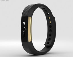 Fitbit Alta Black-Gold 3D