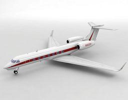 Gulfstream G550 Aircraft 3D asset