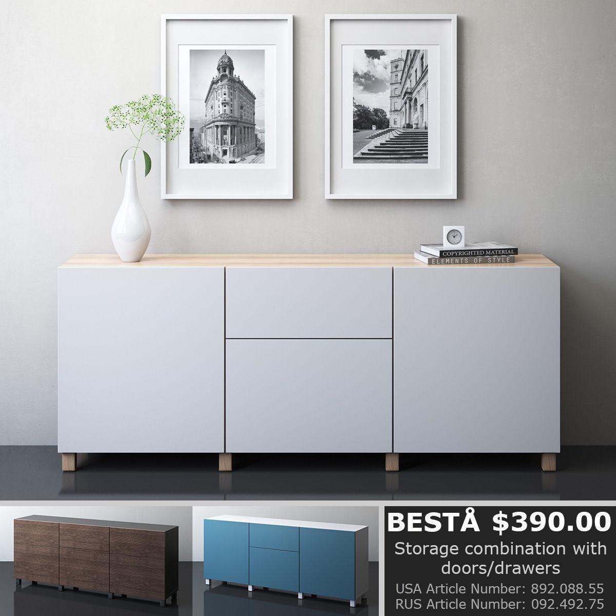 3D IKEA BESTA Storage Combination