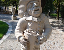 Mirabell Palace Salzburg - Dwarf with 3D printable model 2