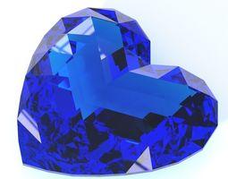 Heart shaped gemstone v3 3D