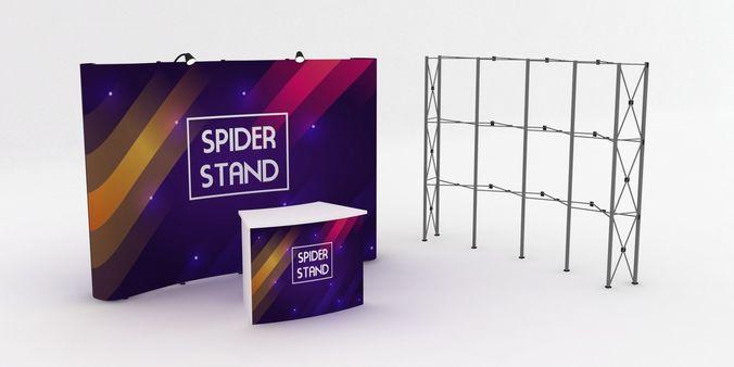 3d pop up display spider stand 3d model max obj mtl 3ds dxf 1