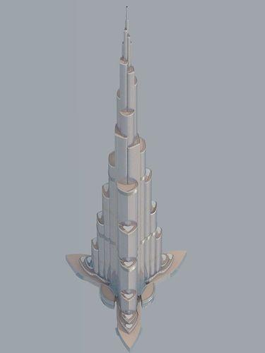 burj dubai gif spin file 3d model  1