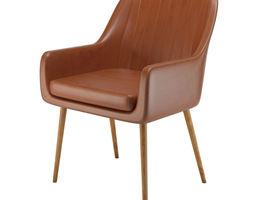 Cognac Pike chair 3D model