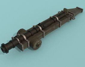 Cannon Falconete Wheel 3D asset low-poly