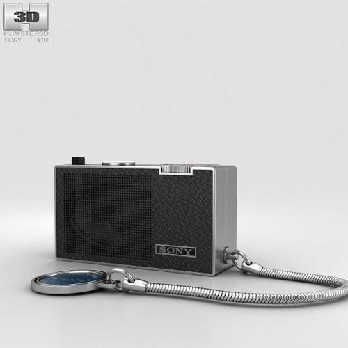 sony icr-100 radio 3d model max obj mtl 3ds fbx c4d lwo lw lws 1