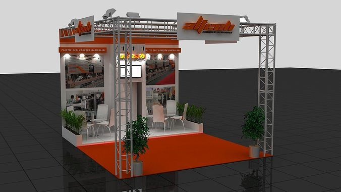 Exhibition Stand Industrial : Wg exhibition stand d model cgtrader