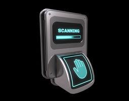 Low Poly Biometric Door Lock 3D model