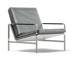 Grey Metal Armchair 3D Model