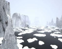 3D model Landscape - rocky islands 02