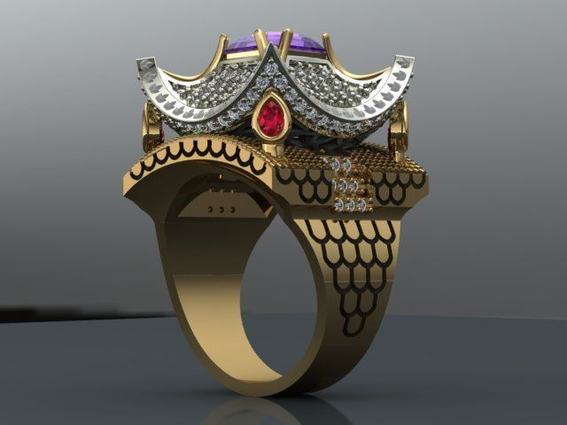 women ring  3d model obj mtl stl 3dm 1