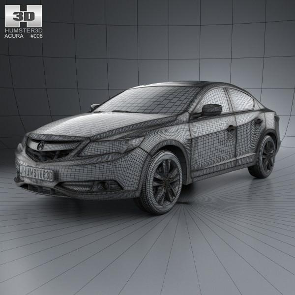 Acura ILX 2013 3D Model MAX OBJ 3DS FBX C4D LWO LW LWS