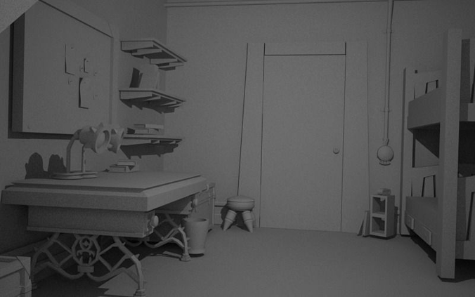 Monster University Room Free 3d Model Ma Mb