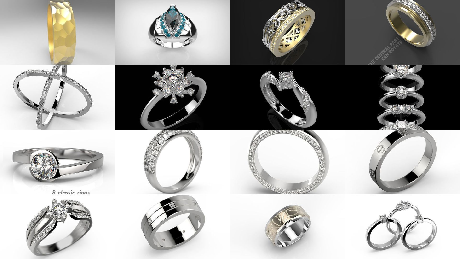 Pack of miscellaneous rings