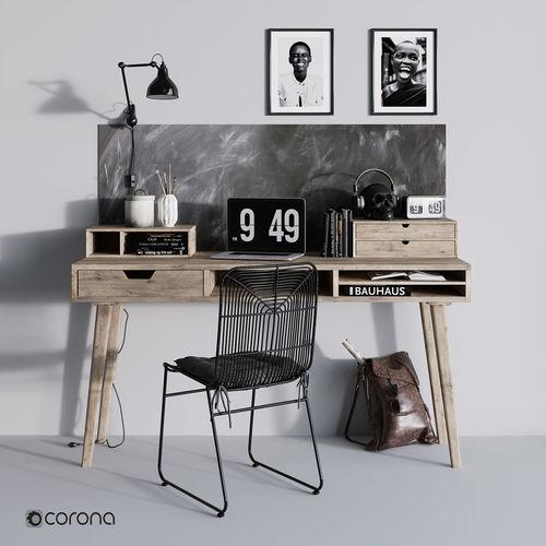 work desk  3d model max obj mtl fbx 1