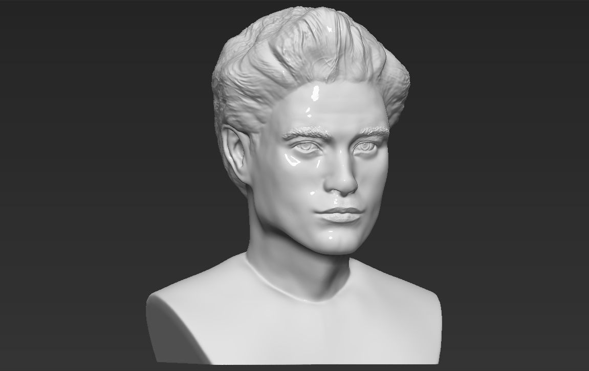 Edward Cullen Twilight Robert Pattinson bust 3D printing ready