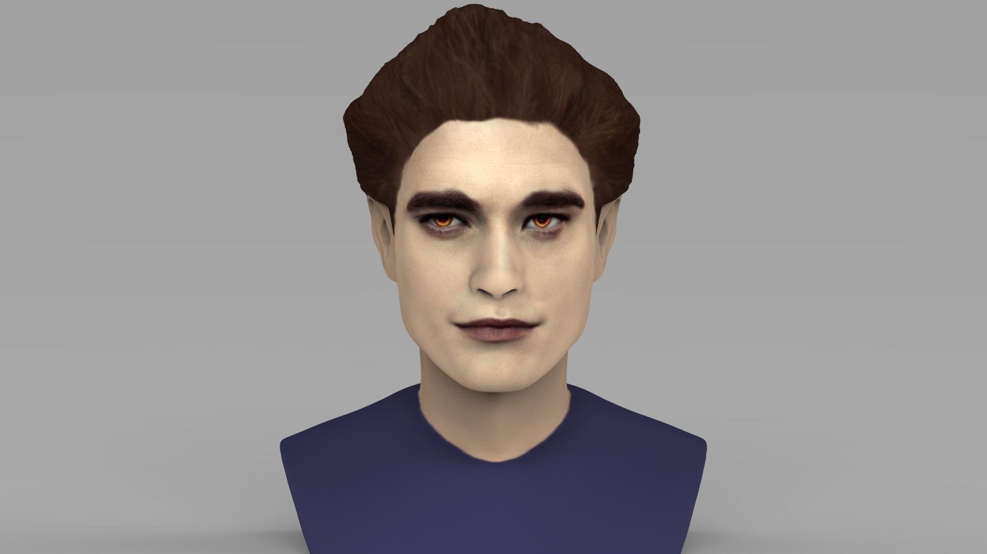 Edward Cullen Twilight Pattinson bust full color 3D printing