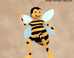 VR / AR ready 3d asset bee rigged character