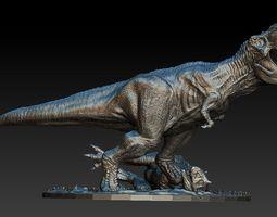T rex vs Carno Jurassic world diorama model