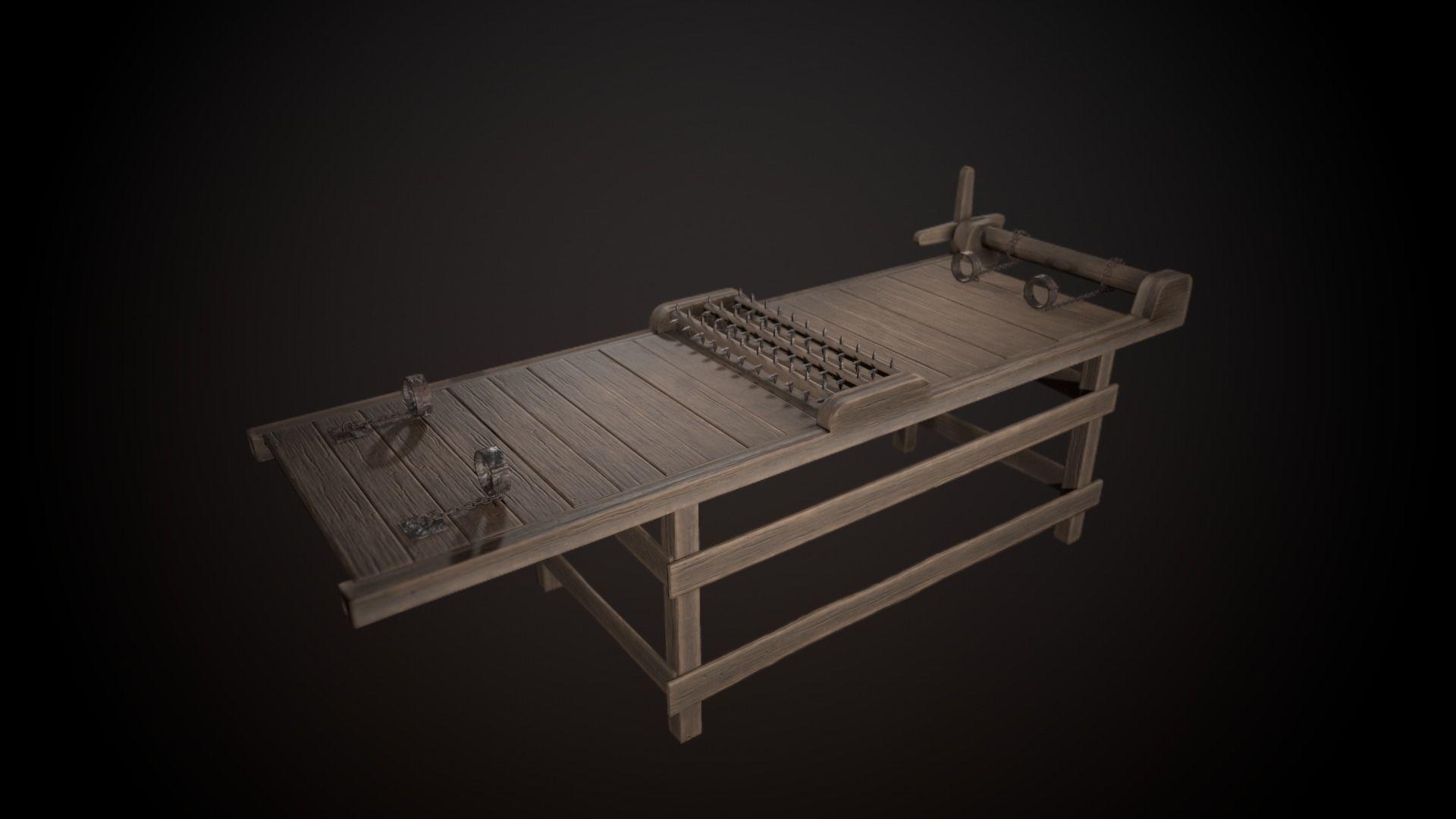 76d058c93 3D model Torture Rack VR / AR / low-poly FBX