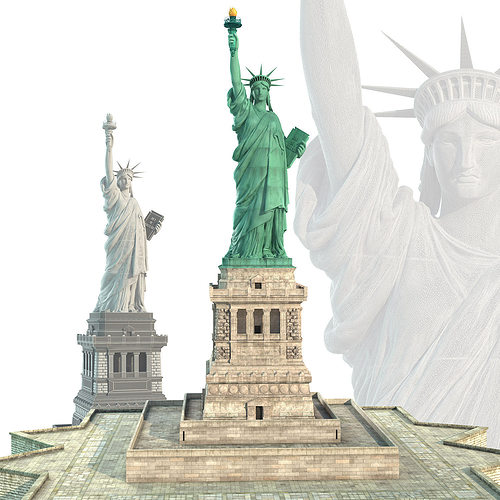statue of liberty 3d model max obj mtl 1