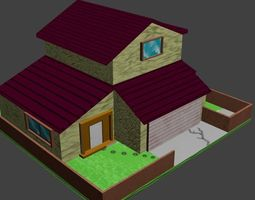 3D model Simply Low-Poly House