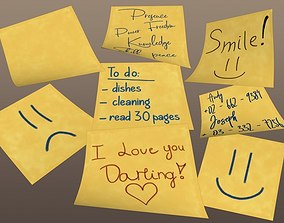 Postit Note Collection 3D