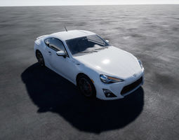 Toyota GT86 Scion UE4 project 3D asset