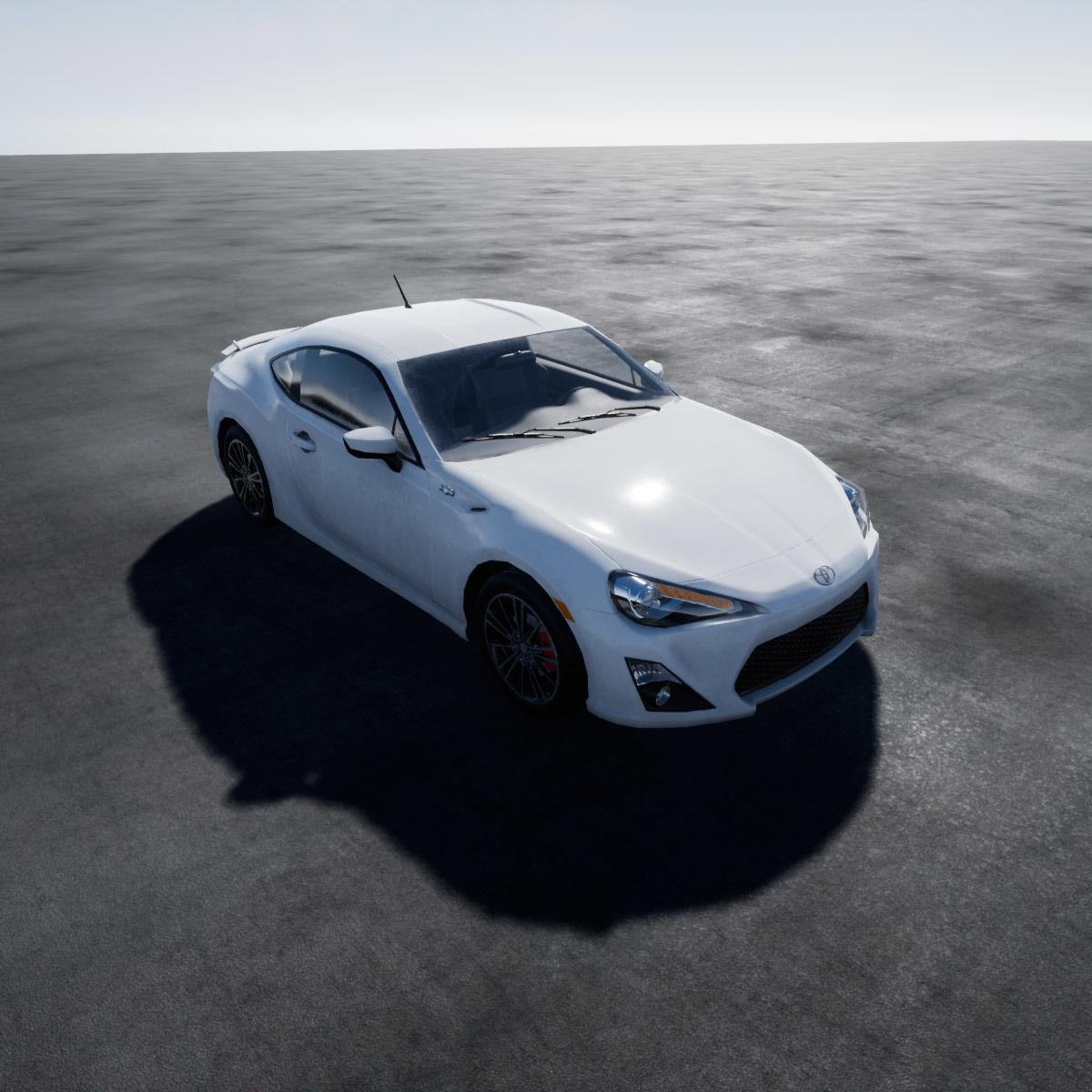 Toyota GT86 Scion UE4 Project 3D Asset