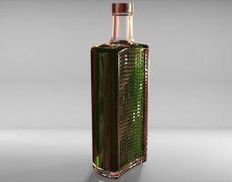 3D model Half bottle 700ml
