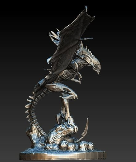 Flying Queen Alien Xenomorph 3d Cgtrader