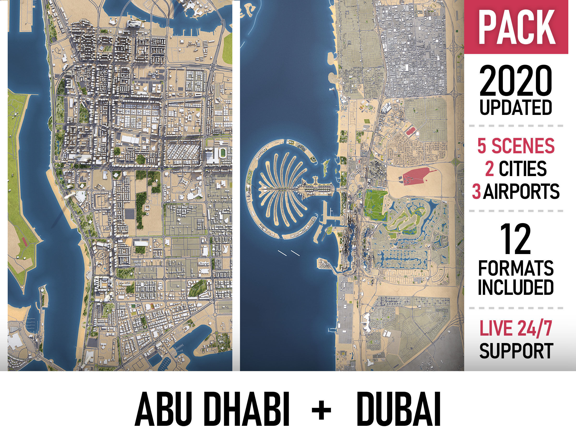 Abu Dhabi and Dubai