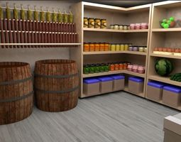 Everything for your store room 3D asset