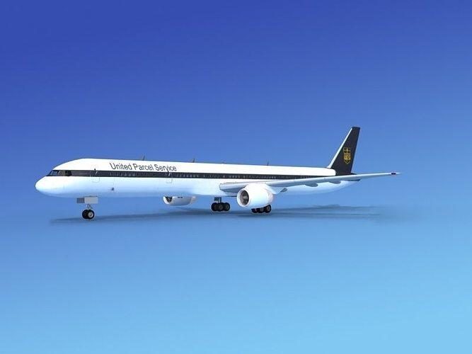 boeing 757-300 ups 3d model max obj mtl 3ds lwo lw lws dxf stl 1