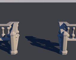 Handrail stair 3D